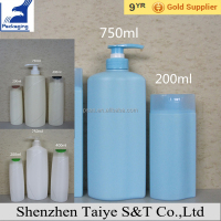 1000ml 2000ml 1 Liter Plastic Shampoo Bottle with Pump