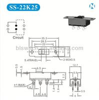 Rohs ceritification slide switch 3 position for Communication products,Audio-Visluas Products