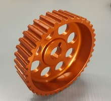 Aluminum machined transmission and drivetrain adjustable cam gear