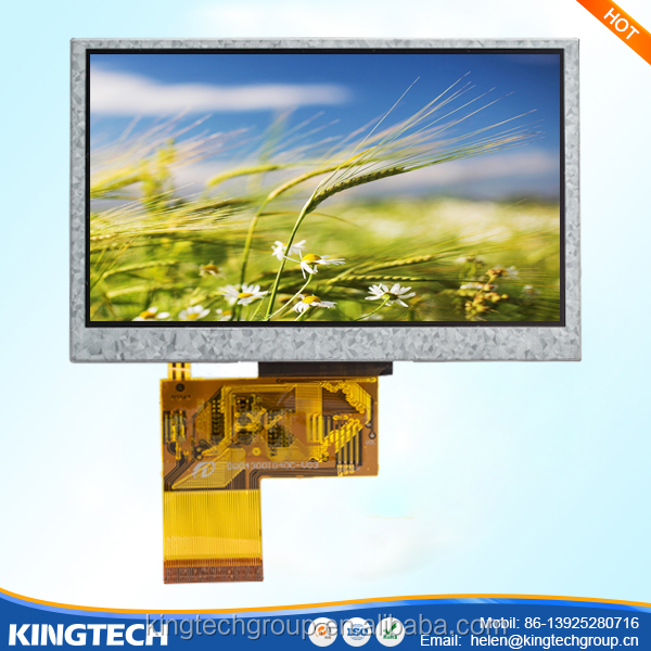 "mp4 fpc4304006 4.3"" large sunlight readable outdoor advertising lcd display panel"