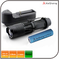 Warranty 1 year SK98 3 mode 18650 battery adjustable beam rechargeable high power led flashlight