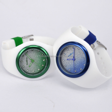 New Arrival Fashion Ice- Cream silicone lady glittering dial Watch for women