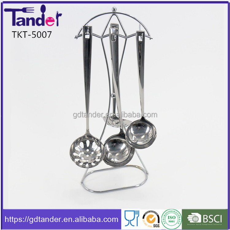 Tander stainless steel flat handle kitchen tools names and uses and utensils list