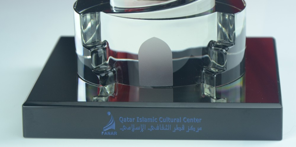 Replica Crystal Building Mold Qatar Islamic Culture Center Islamic souvenir
