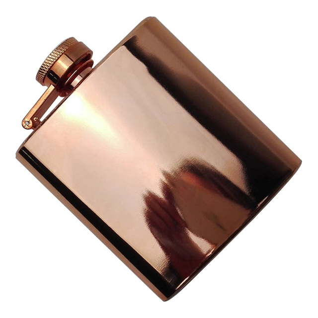 OEM Customized Rose Gold 201 Stainless Steel Flask Liquor