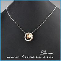 European Style Quality Nice Fashion 316L Stainless Steel round love women Necklace