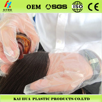 cosmetology and hairdressing plastic disposable PE gloves