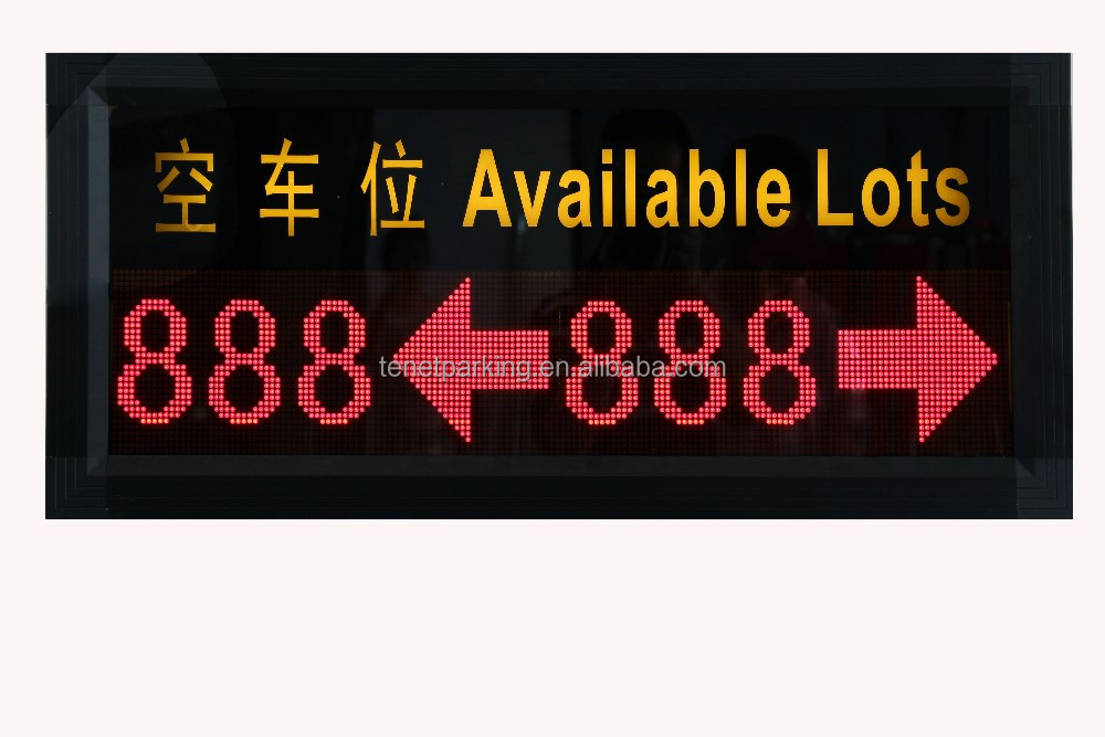 P10 Indoor led display/outdoor led display RS485 protocol parking slots variable message sign