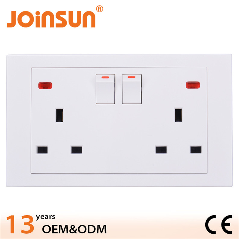 Popular double 3-pin uk plastic floor outlet covers