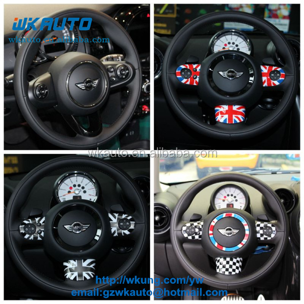 Brand New ABS Material UV Protected Union Jack Multifunctional Steering Wheel Cover For mini cooper R55-R61