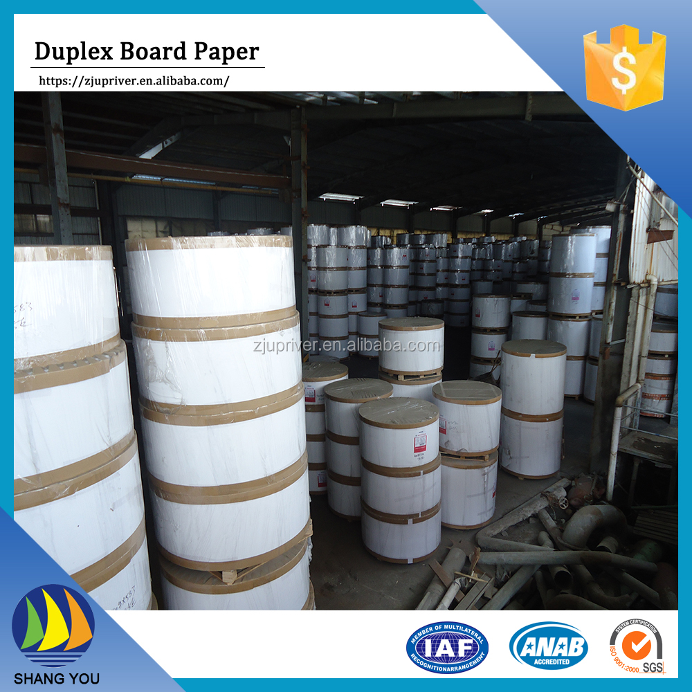 Gold supplier china paper carton white duplex board