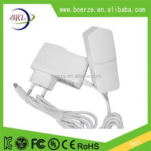 EU plug adapter 12v 1a white color power adapter