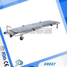 Medical Emergency Folding Portable Stretcher Aluminum Alloy Mobile