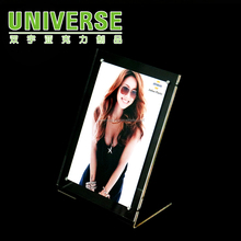 UNIVERSE wholesale table stand clear A4 acrylic certificate frame