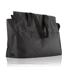 High quality China wholesale foldable black nylon handbags tote bag