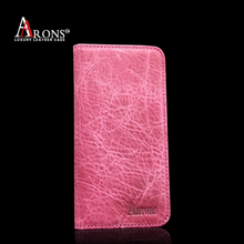 Premium leather smartphone case folio opening wallet case for iphone6 cover