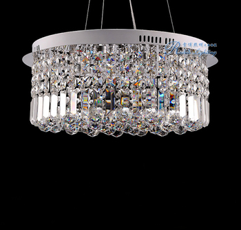Modern Round LED Crystal Chandelier
