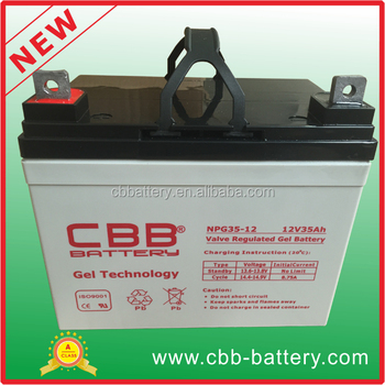 high quality 12V 35ah GEL battery marine battery