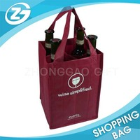 Customized Bulk Non Woven Reusable Wine Tote Bag Wholesale