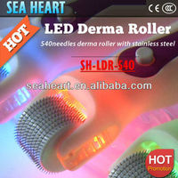Best ! Changeable photon heads therapy led light derma roller /Vibration and LED Light Derma Roller CE approval