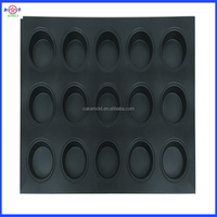 15 Cups non-stick Muffin Metal Pan, 24 cups Muffin pan with silicone coated