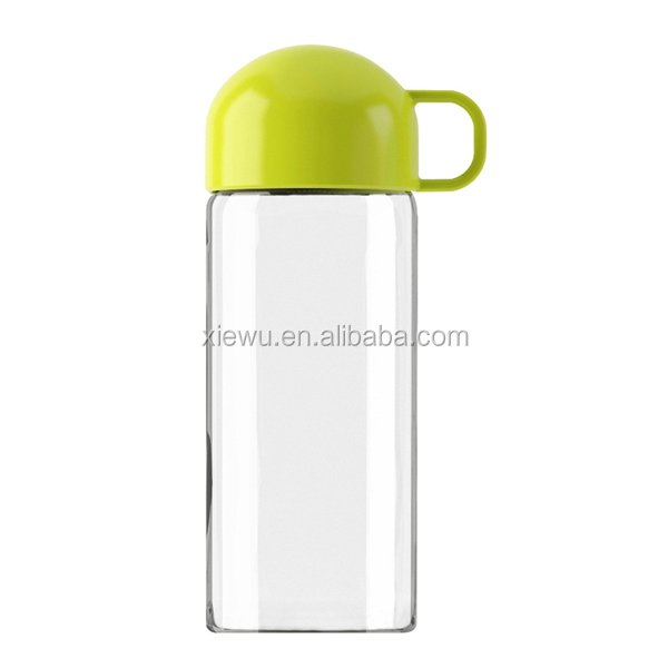 X&W 400ml green juice glass drinking bottle
