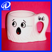 Ghost Dacal White Coffee Cup Ceramic Souvenir Mug For Halloween