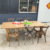 Quality Natural Color Foldable Solid Wood Restaurant Farmhouse Wedding Table