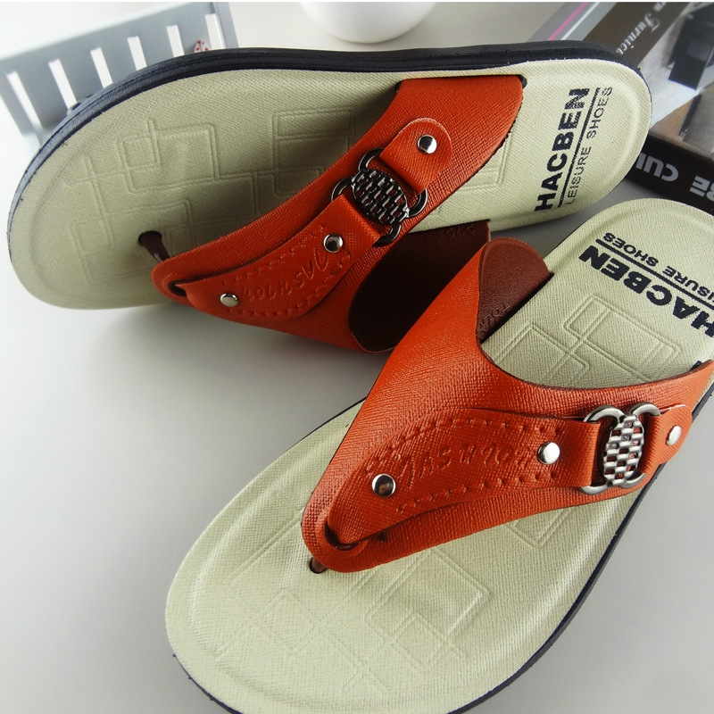 Lowest price Summer sandals male antiskid leisure beach thick bottom Mens flip flops sandals slippers