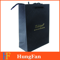 luxury shopping paper bag with 3D hotstamping Logo