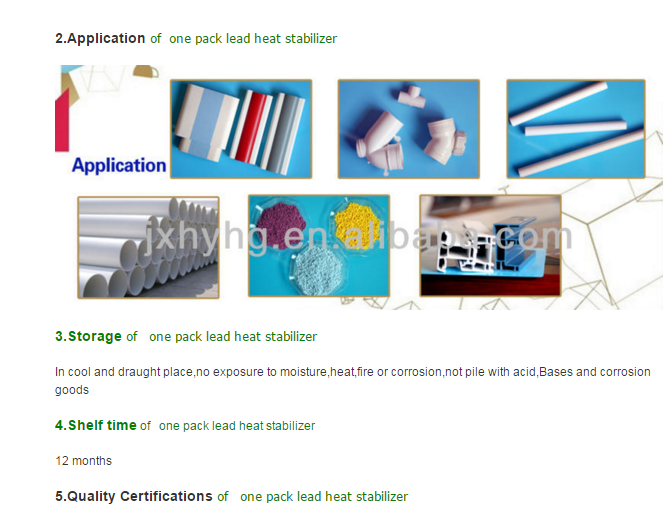 PVC Lead based Heat Stabilizer Series for injection