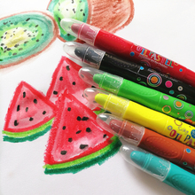 24 colors Non toxic kids 3 in 1 water color vivid colorful art crayon pastel