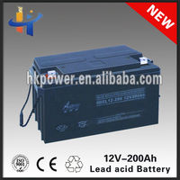 Best price 12v 200ah club car golf cart battery