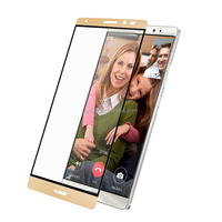 Japan imported 0.33 mm tempered glass gold mirror screen protectors for huawei mate 8 cell phone