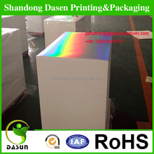 supplier custom silver laminated duplex paper