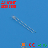 3mm white led diffused light emitting diode LED brightness RoHs approval