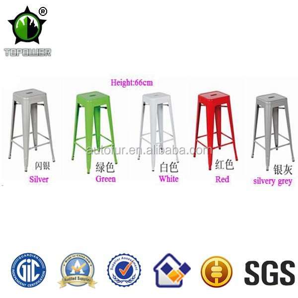 Retro New Design Antique Metal Frame Brushed Bar Stools