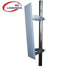 Wide band 4.9-6Ghz 19dBi 120degree 2X2 MIMO base station sector panel antenna for Ubiquiti Rocket M5