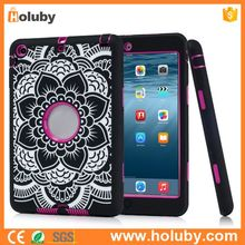 Flower Hybrid PC+ Silicone Case for iPad Mini / iPad Mini 2 Retina / iPad Mini 3