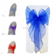 22CM X 275CM Elegant organza chair cover sash fabric wholesale