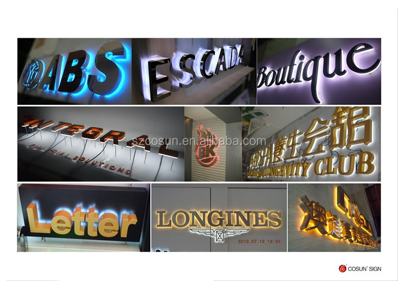 High Brightness Frontlit Led Edgeless Channel Letter with Trim Cap