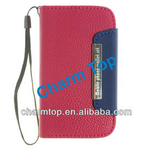 New Arrival For Samsung Galaxy S3 Mini Leather Flip Case