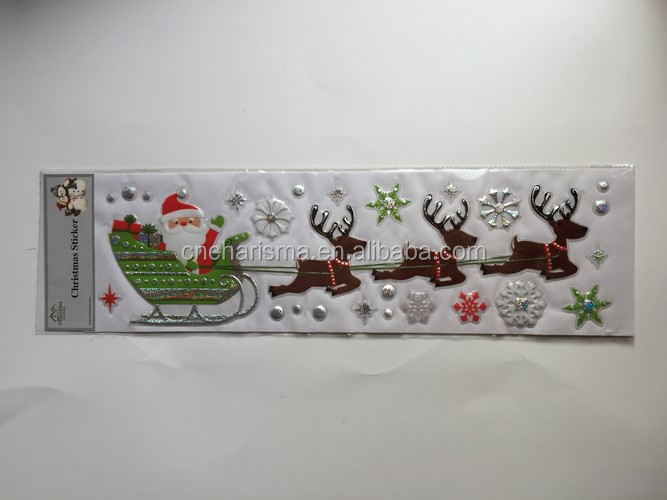 Custom home adhesive decor removable pvc 3d Christmas wall stickers