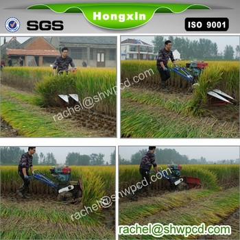 mini rice combine harvester rice harvester with good price
