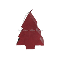 Wholesale Handmade red color fancy decorative paraffin wax Christmas tree shaped candle