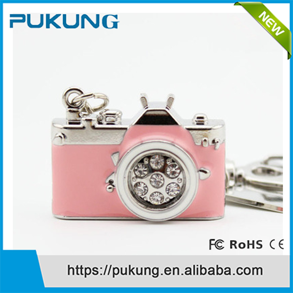Customize 2.0 jewelry camera usb flash drive,Diamond camera shape usb with low price