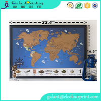 Travel Scratch World Map Deluxe Scratch