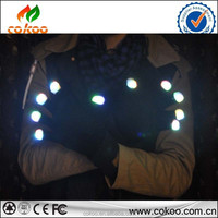 led LED gloves wholesale in china high quality cotton youth