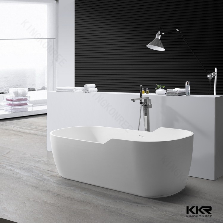 KKR Modern Artificial River Stone Freestanding Bath