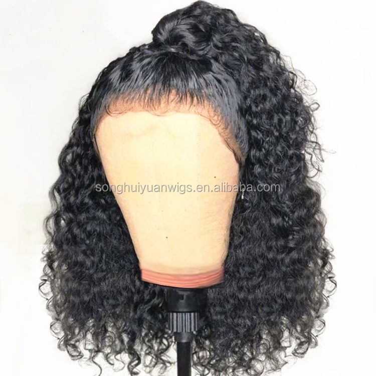 Peruvian Lace Front Wigs Natural Curly Full Lace Human Hair Wig For Black Women Glueless Cuticle Aligned Lace Frontal Wigs